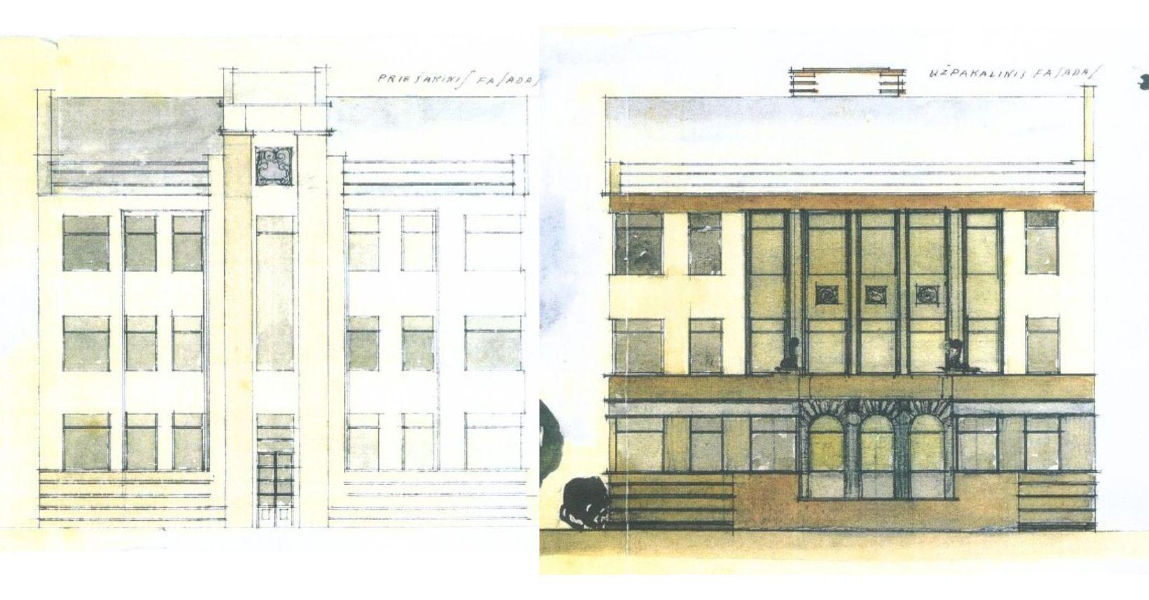 matijošaičių namo fasadų projektai