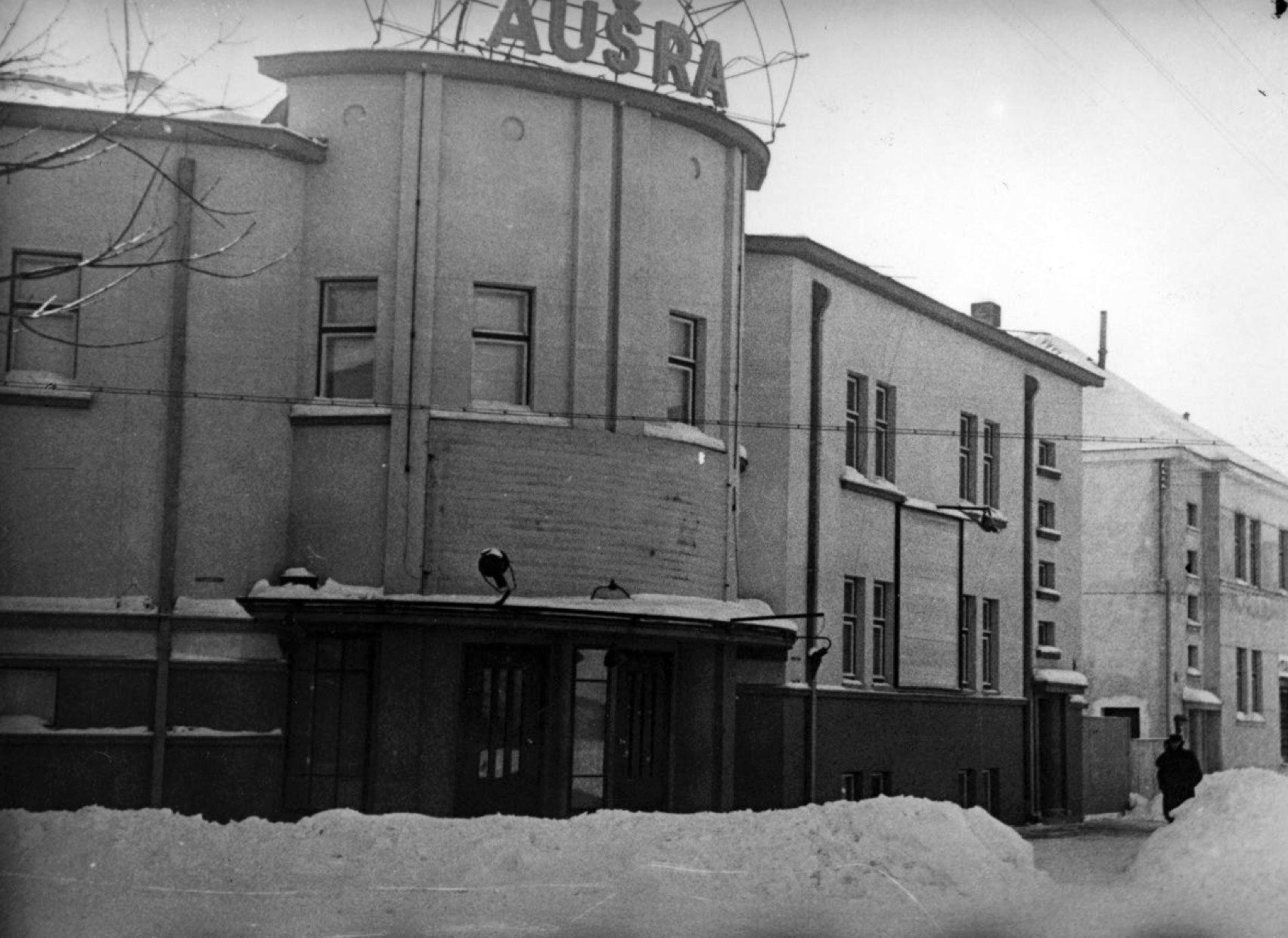 austros kino teatro istorine nuotrauka