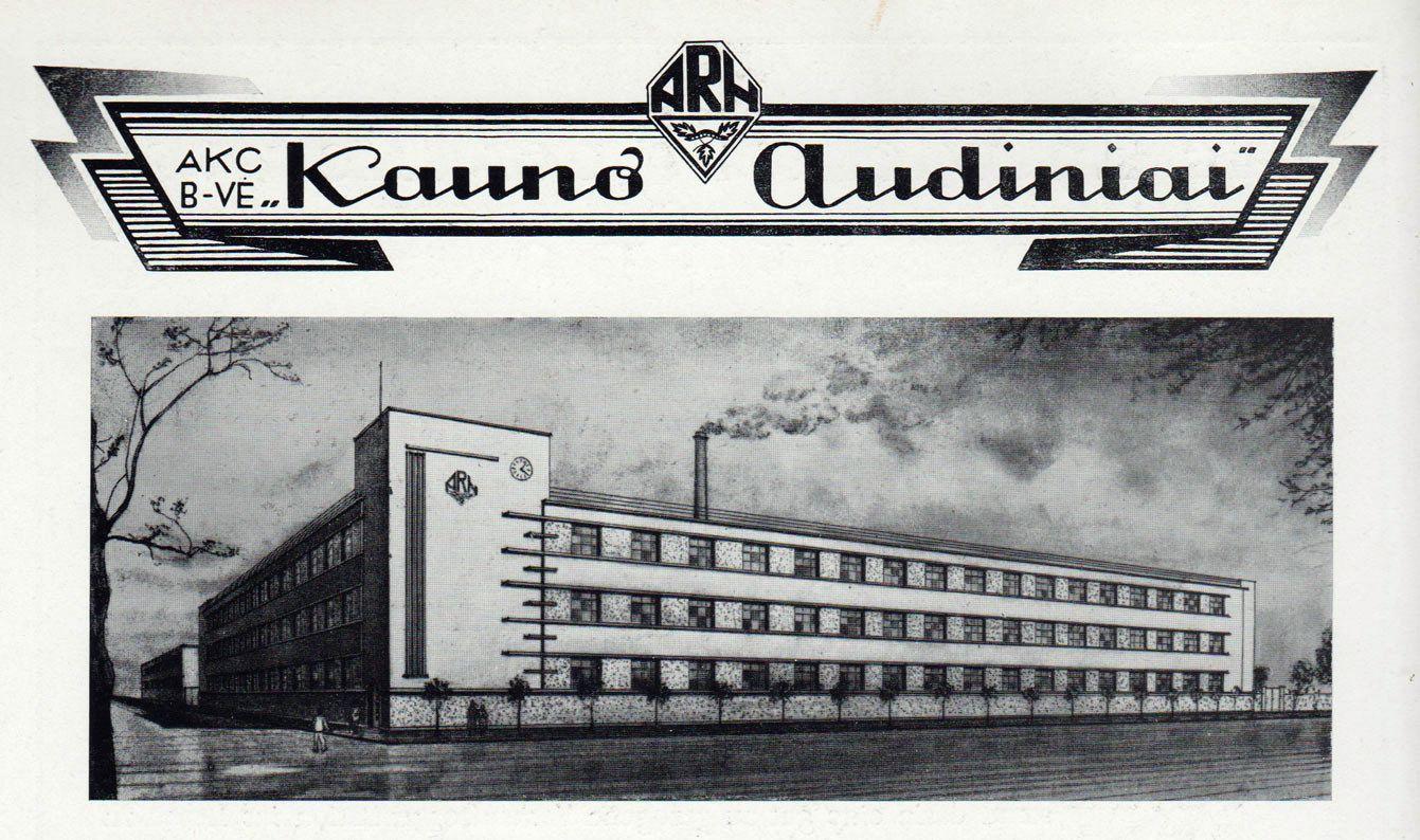 kauno audiniai fabriko atvaizdas