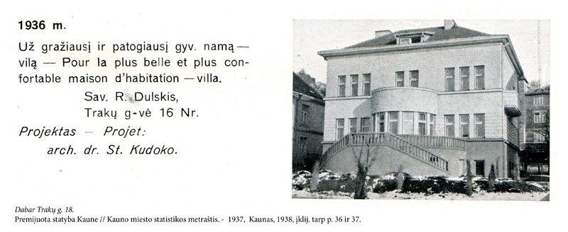 r dulskio namas istorine