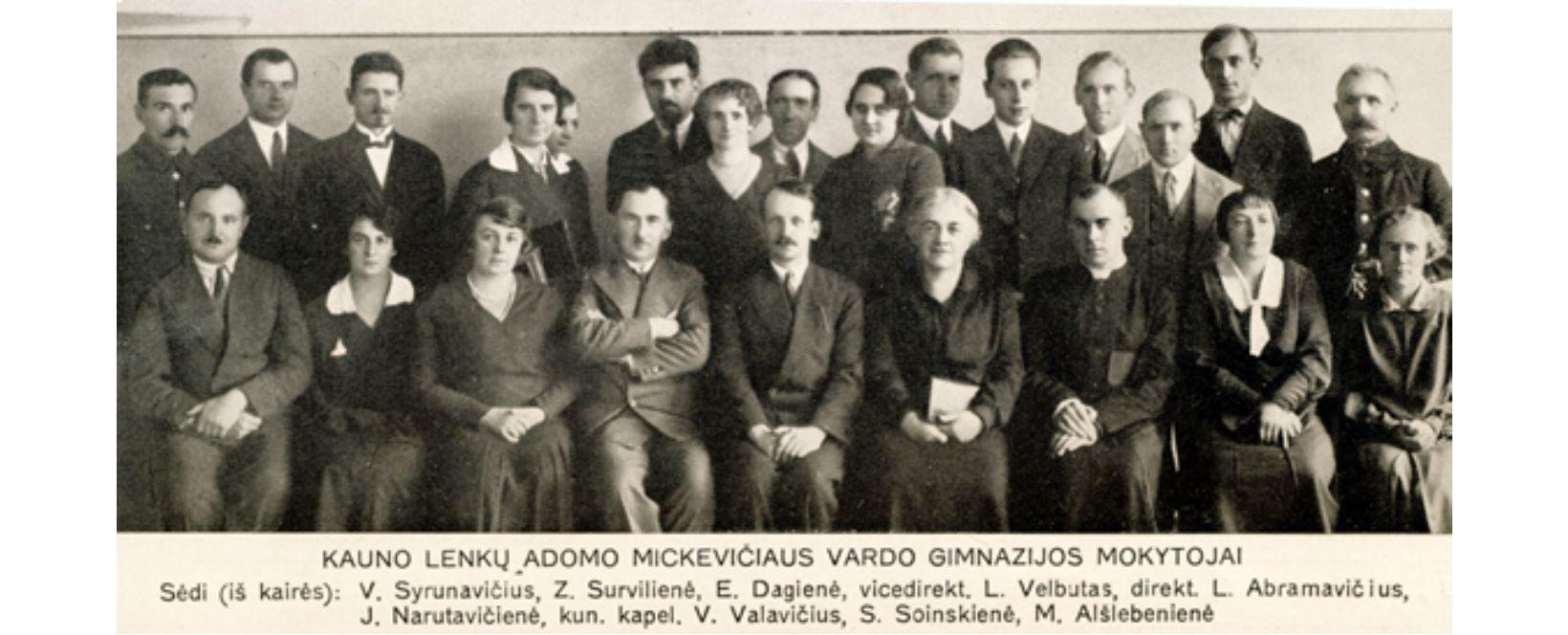 lenku gimnazijos kolektyvas