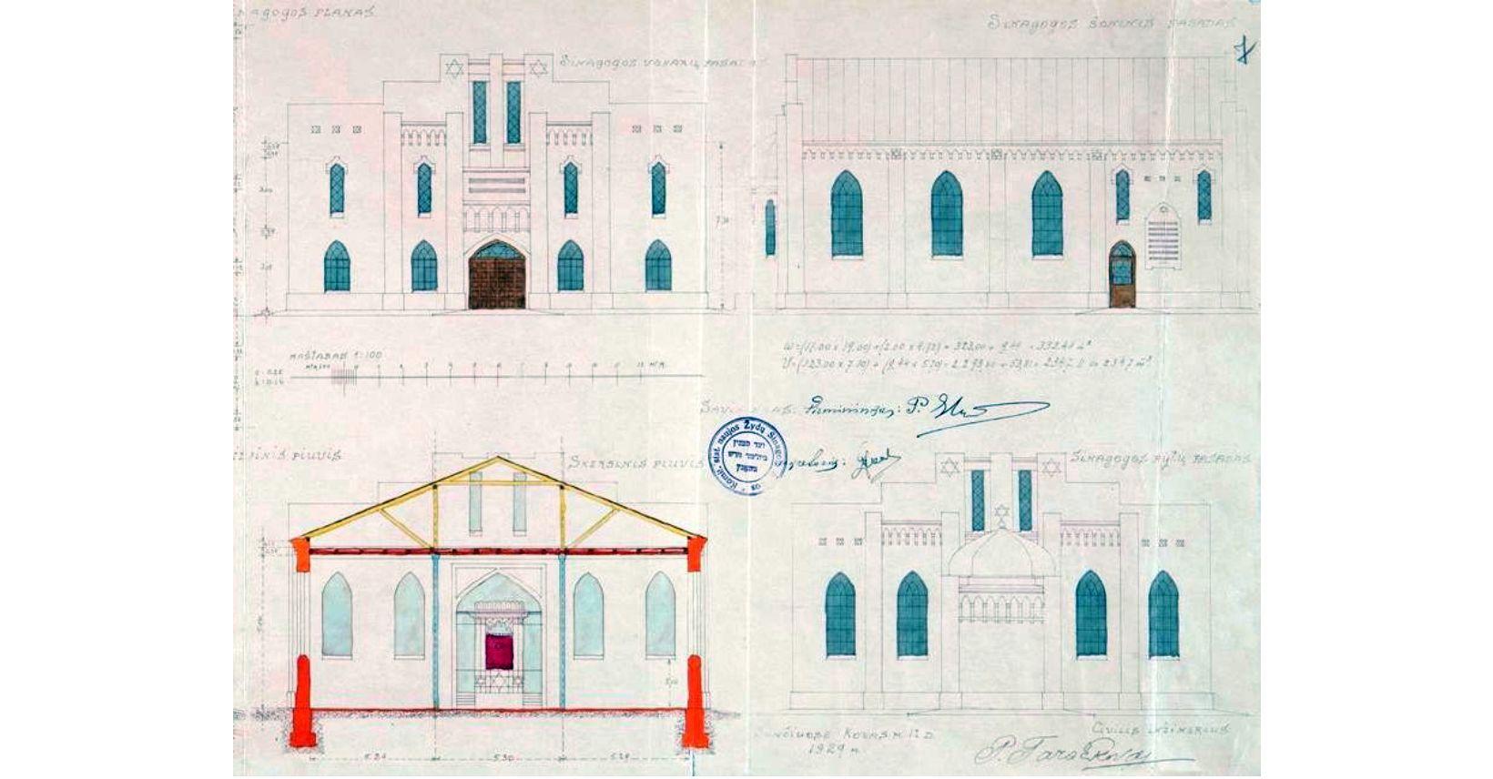 šančių sinagogos brėžinys